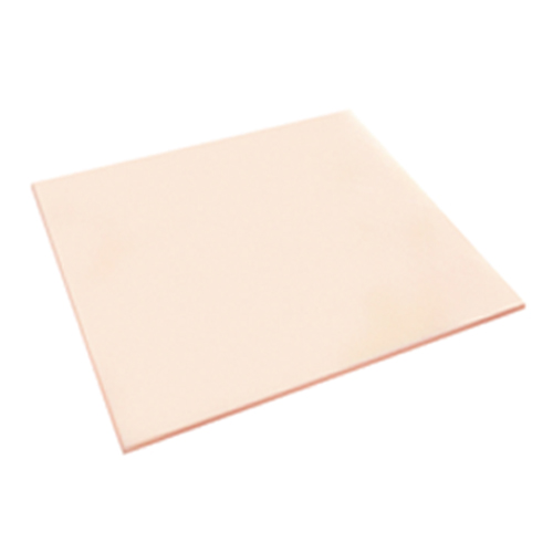 square beige thermoplastic bolus sheet