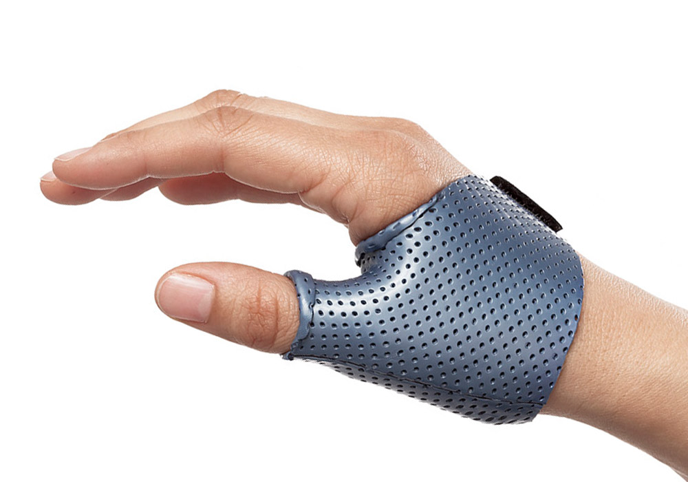Short Thumb Opponens Orthosis in Orfit Colors NS Atomic Blue